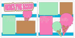 Here's the Scoop - Ice Cream - Scrapbook Page Kit