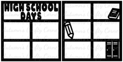 High School Days - Scrapbook Page Overlay Set - Choose a Color