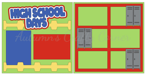 High School Days - Scrapbook Page Kit