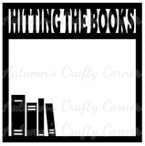 Hitting the Books - Scrapbook Page Overlay Die Cut - Choose a Color