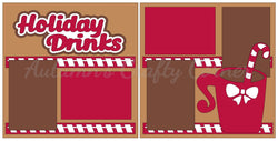 Holiday Drinks - Scrapbook Page Kit