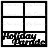 Holiday Parade - 4 Frames - Scrapbook Page Overlay Die Cut - Choose a Color