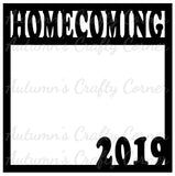 Homecoming 2019 - Scrapbook Page Overlay Die Cut - Choose a Color