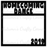 Homecoming Dance 2019 - Scrapbook Page Overlay Die Cut - Choose a Color