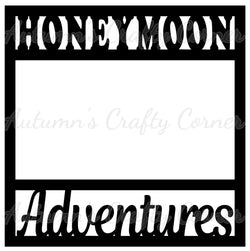 Honeymoon Adventures - Scrapbook Page Overlay Die Cut - Choose a Color