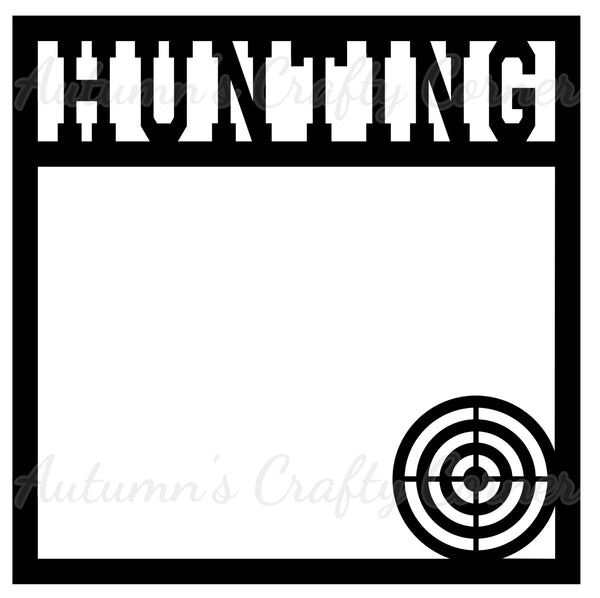 Hunting - Scrapbook Page Overlay Die Cut - Choose a Color