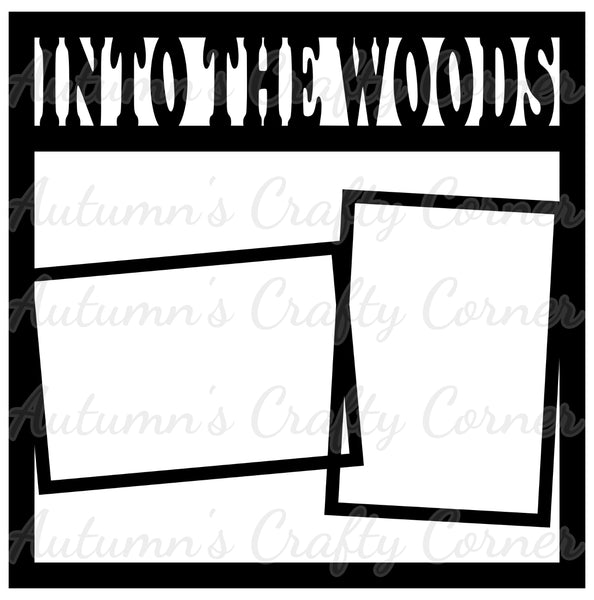 Into the Woods - 2 Frames - Scrapbook Page Overlay Die Cut - Choose a Color