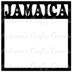 Jamaica - Scrapbook Page Overlay Die Cut - Choose a Color