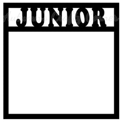 Junior - Scrapbook Page Overlay Die Cut - Choose a Color
