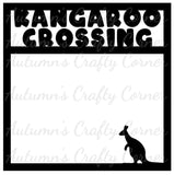 Kangaroo Crossing - Scrapbook Page Overlay Die Cut - Choose a Color