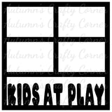 Kids at Play - 4 Frames - Scrapbook Page Overlay Die Cut - Choose a Color