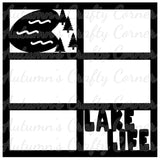 Lake Life - 6 Frames - Scrapbook Page Overlay Die Cut - Choose a Color