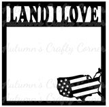Land I Love - States - Scrapbook Page Overlay Die Cut - Choose a Color