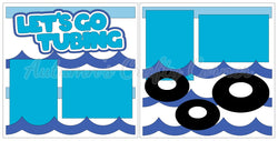 Let's Go Tubing - River - Lake - Scrapbook Page Kit