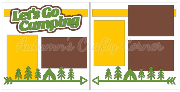 Let's Go Camping - Scrapbook Page Kit