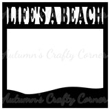 Life's a Beach - Scrapbook Page Overlay Die Cut - Choose a Color