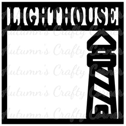 Lighthouse - Scrapbook Page Overlay Die Cut - Choose a Color