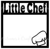 Little Chef - Scrapbook Page Overlay Die Cut - Choose a Color