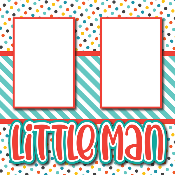 Little Man - Printed Premade Scrapbook Page 12x12 Layout