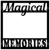 Magical Memories - Scrapbook Page Overlay Die Cut - Choose a Color