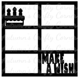 Make a Wish - 6 Frames - Scrapbook Page Overlay Die Cut - Choose a Color