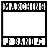 Marching Band - Scrapbook Page Overlay Die Cut - Choose a Color
