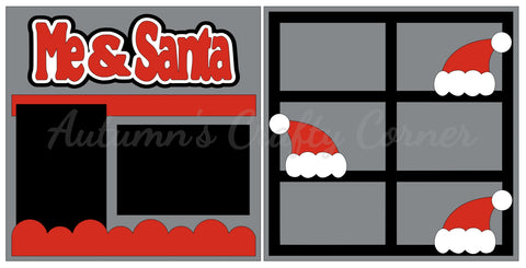 Me & Santa  - Scrapbook Page Kit