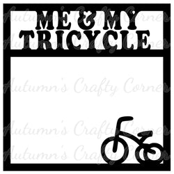 Me & My Tricycle - Scrapbook Page Overlay Die Cut - Choose a Color