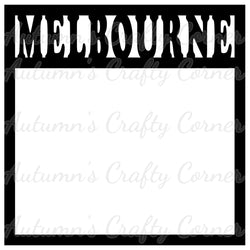 Melbourne - Scrapbook Page Overlay Die Cut - Choose a Color