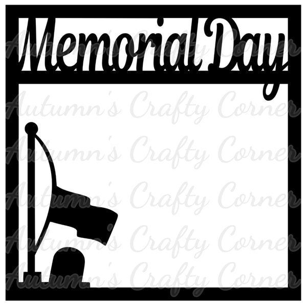 Memorial Day - Scrapbook Page Overlay Die Cut - Choose a Color