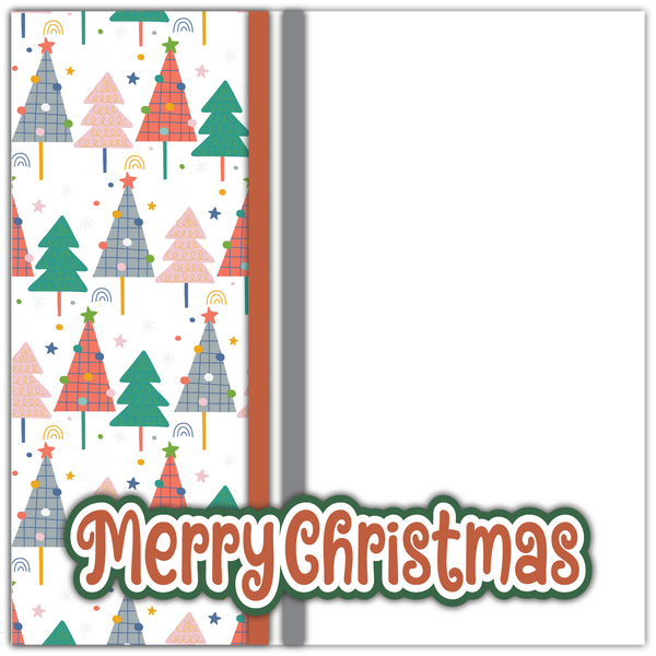 Merry Christmas - Printed Premade Scrapbook Page 12x12 Layout