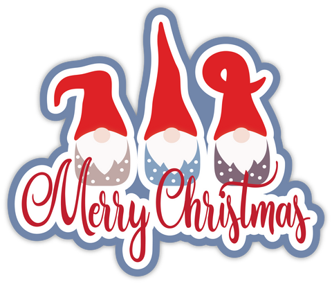 Merry Christmas - Scrapbook Page Title Sticker