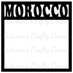 Morocco - Scrapbook Page Overlay Die Cut - Choose a Color