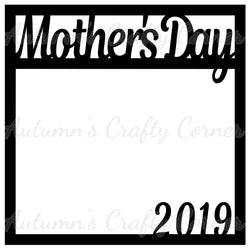 Mother's Day 2019 - Scrapbook Page Overlay Die Cut - Choose a Color