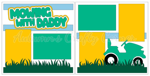 Mowing with Daddy - Scrapbook Page Kit