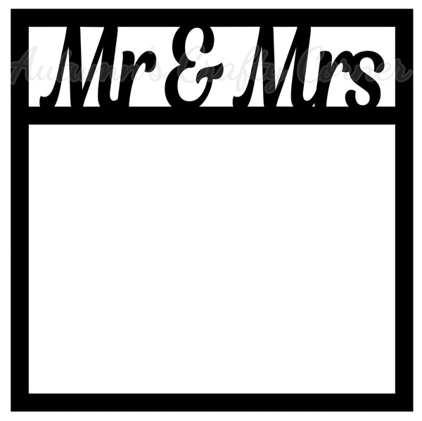 Mr & Mrs - Scrapbook Page Overlay Die Cut