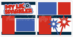 My Lil Sparkler - 4th of July - Scrapbook Page Kit