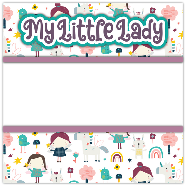 My Little Lady - Printed Premade Scrapbook Page 12x12 Layout