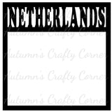 Netherlands - Scrapbook Page Overlay Die Cut - Choose a Color
