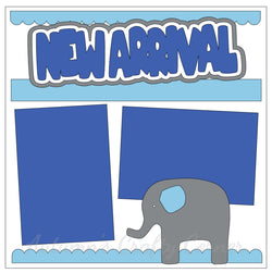 New Arrival - Baby Boy - Single Scrapbook Page Kit