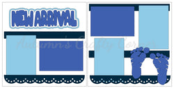 New Arrival - Baby Boy - Scrapbook Page Kit