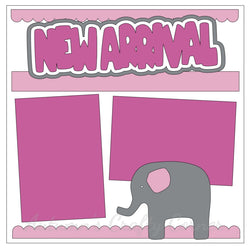 New Arrival - Baby Girl - Single Scrapbook Page Kit