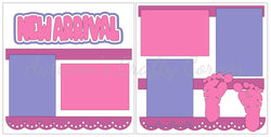 New Arrival - Baby Girl - Scrapbook Page Kit