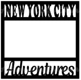New York City Adventures - Scrapbook Page Overlay Die Cut - Choose a Color
