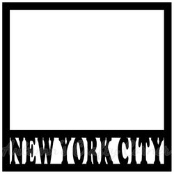 New York City - Scrapbook Page Overlay Die Cut - Choose a Color