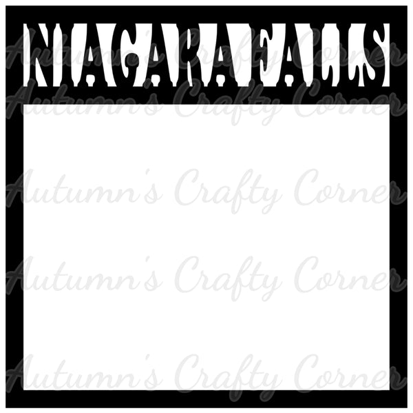 Niagara Falls - Scrapbook Page Overlay Die Cut - Choose a Color