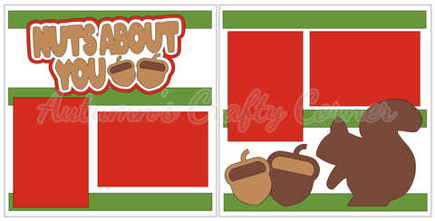 Nuts About You - Scrapbook Page Kit