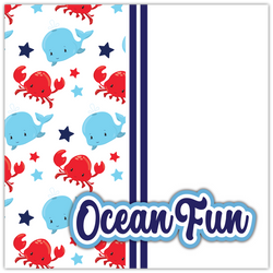 Ocean Fun - Printed Premade Scrapbook Page 12x12 Layout