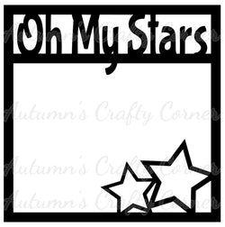 Oh My Stars - Scrapbook Page Overlay Die Cut - Choose a Color