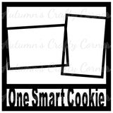 One Smart Cookie - 2 Frames - Scrapbook Page Overlay Die Cut - Choose a Color
